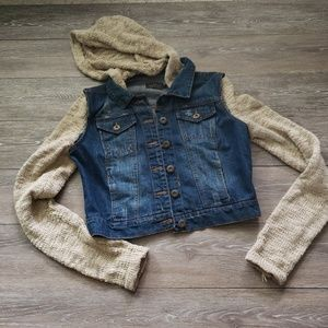 Jean sweater jacket size large